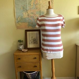 Madewell Musical Tee In Rugby Stripe
